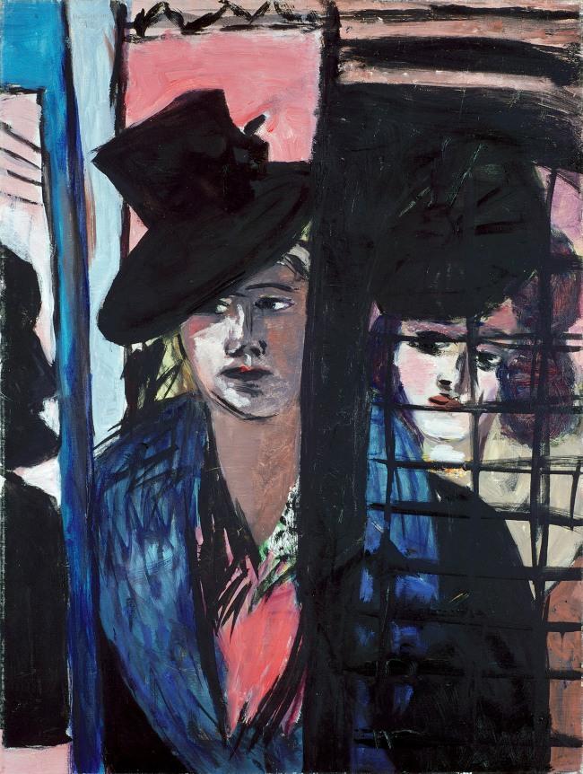Max Beckmann. 'Two women (in glass door)' 1940