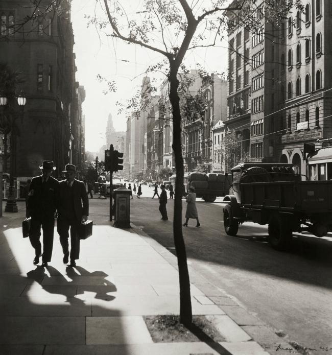 Max Dupain. 'Collins Street, Melbourne' 1946