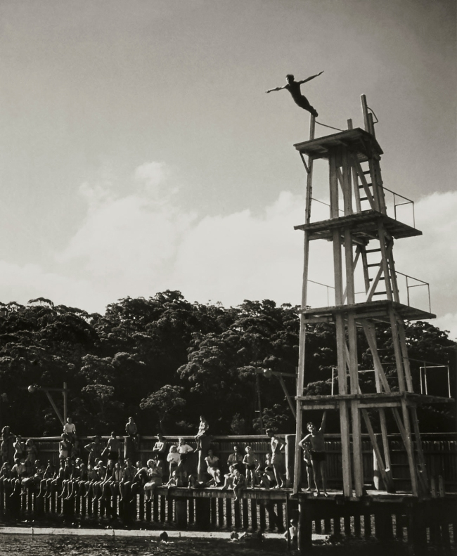 Max Dupain. 'Diver, Northbridge Baths' Nd