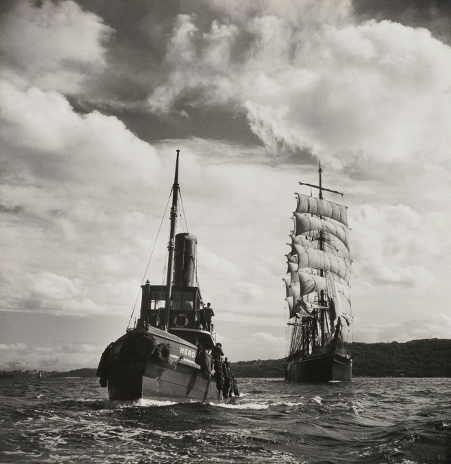 Max Dupain. 'Hero Towing Pamir to Sydney Heads' c. 1940s