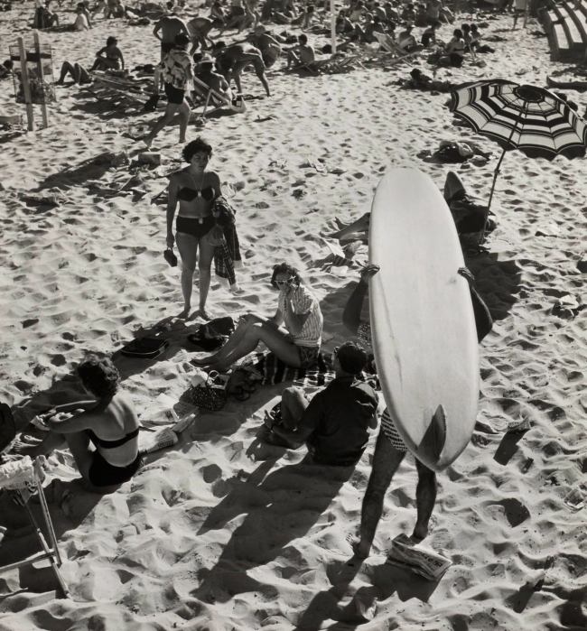 Max Dupain (Surfboard, Umbrella and Crowds) Nd