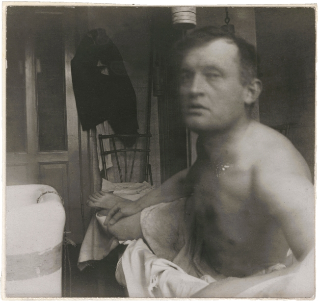 Edvard Munch (Norwegian, 1863-1944) 'Edvard Munch à la Marat at the Clinic, Copenhagen' 1908-09