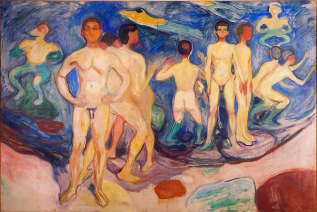 Edvard Munch (Norwegian, 1863-1944) 'Bathing Young Men' 1904