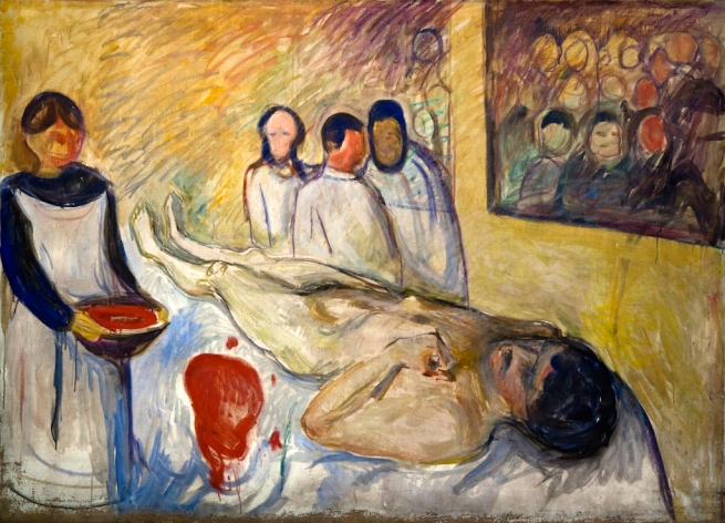 Edvard Munch (Norwegian, 1863-1944) 'Self-portrait on the Operating Table' 1902-03