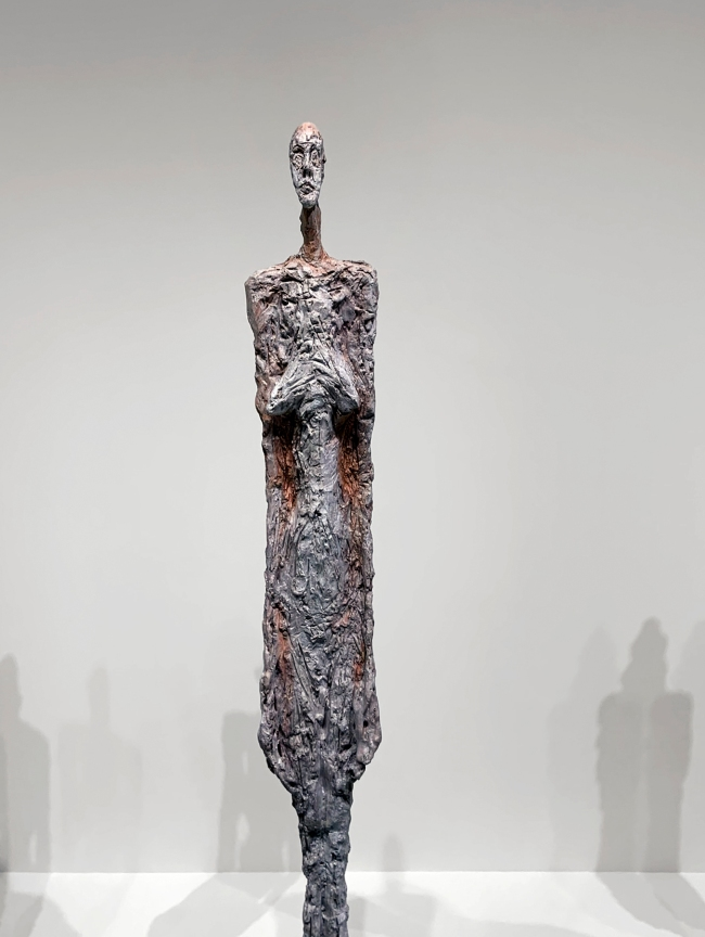Alberto Giacometti (Swiss, 1901-1966) 'Women of Venice' 1956 (installation view detail)