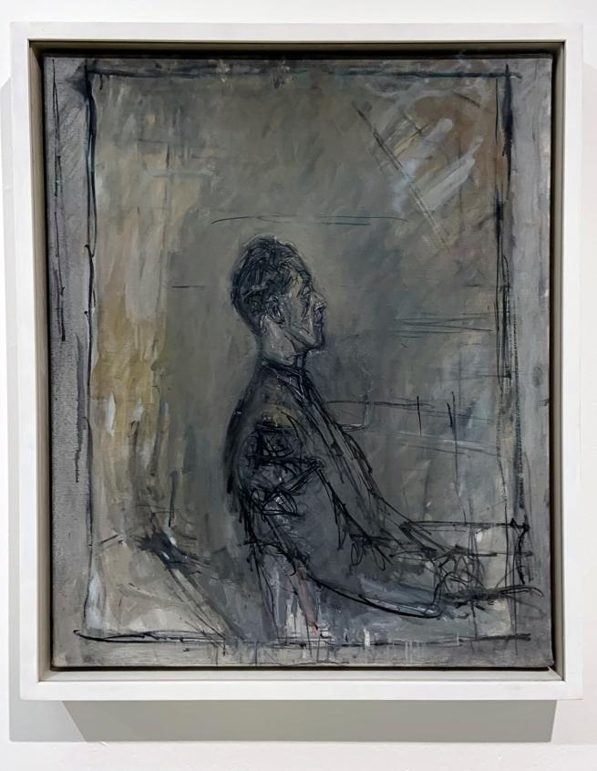 Alberto Giacometti (Swiss, 1901-1966) 'Yanaihara in Profile' 1956 (installation view)