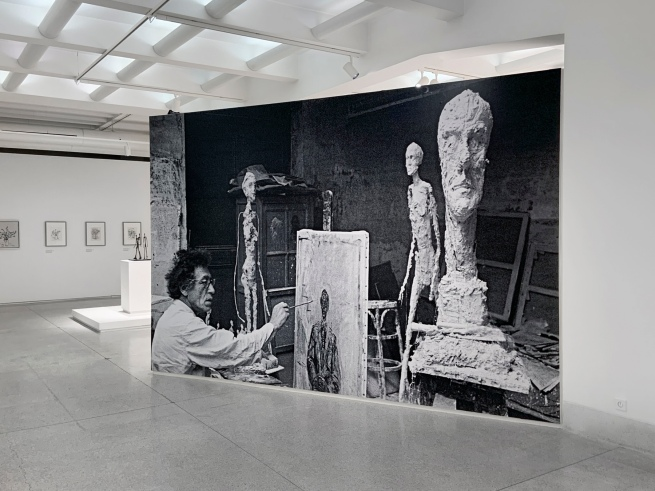 Installation view of the exhibition 'Alberto Giacometti' at the Trade Fair Palace, National Gallery Prague