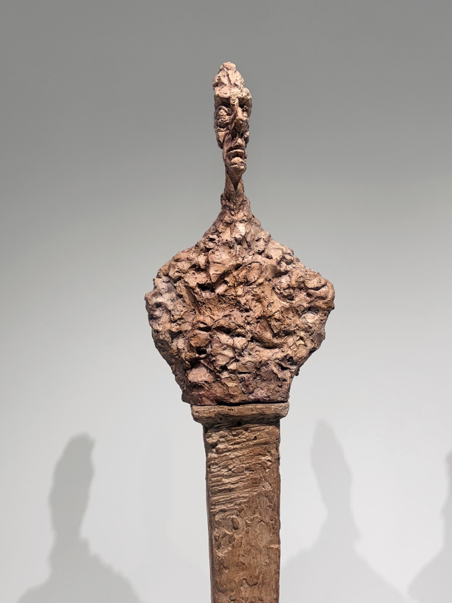 Alberto Giacometti (Swiss, 1901-1966) 'Stele III'1958 (installation view detail)