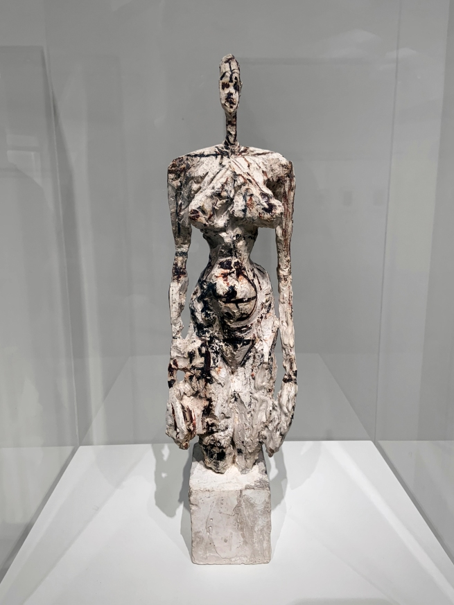 Alberto Giacometti (Swiss, 1901-1966) 'Standing Nude on a Cubic Base' 1953 (installation view)