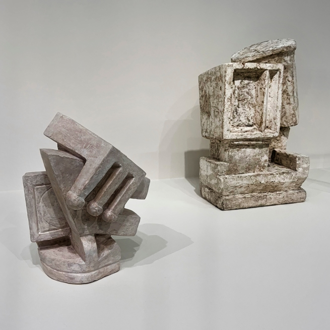 Alberto Giacometti (Swiss, 1901-1966) 'Composition (known as Cubist I, Couple)' and 'Composition (known as Cubist II, Couple)' 1926-1927