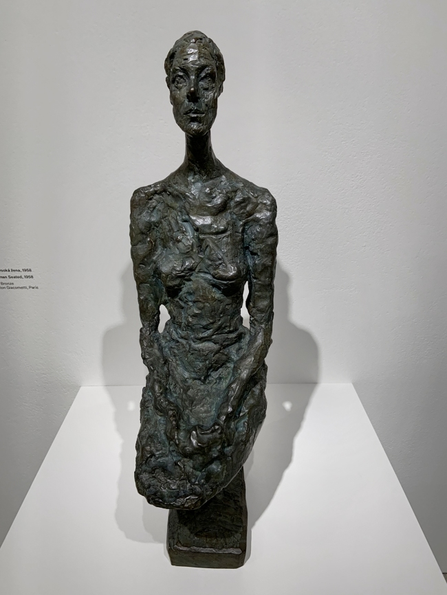Alberto Giacometti (Swiss, 1901-1966) 'Tall Woman Seated' 1958