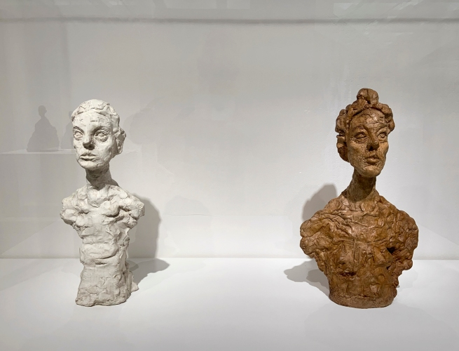 Alberto Giacometti (Swiss, 1901-1966) 'Bust of Annette X' 1965 (left) and 'Bust of Annette, Venice' 1962 (right)