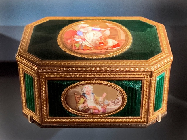 French enamelled box