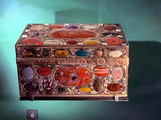 German hardstone box