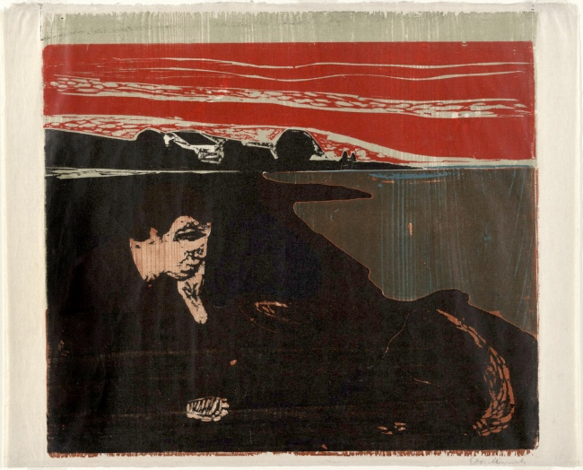 Edvard Munch (Norwegian, 1863-1944) 'Evening. Melancholy I (Aften. Melankoli I)' 1896