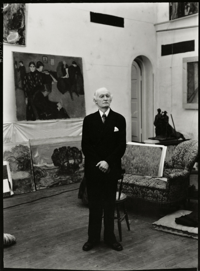 Ragnvald Vaering. 'Munch in his Winter Studio in Ekely on his seventy fifth birthday' 1938