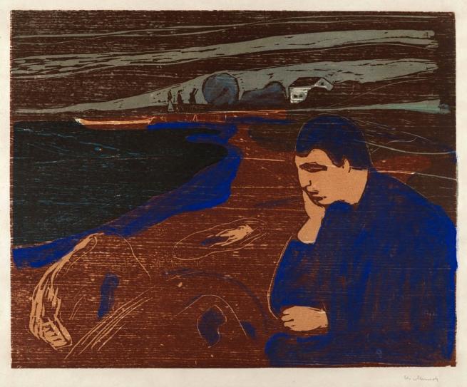 Edvard Munch (Norwegian, 1863-1944) Melancholy III (Melankoli III)' 1902