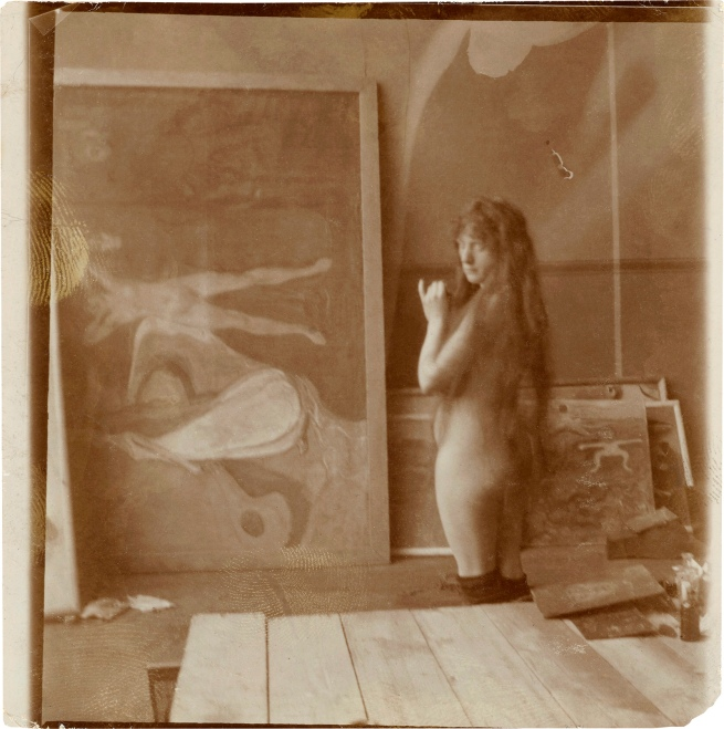 Edvard Munch (Norwegian, 1863-1944) 'Model in the Studio, Berlin' 1902