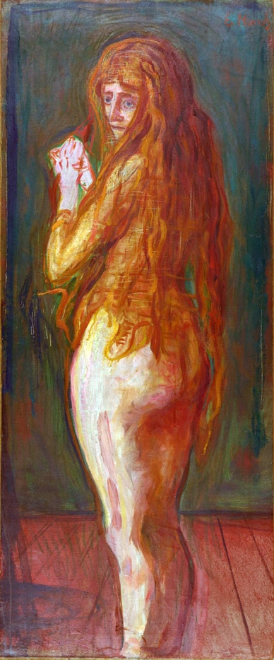 Edvard Munch (Norwegian, 1863-1944) 'Nude with Long Red Hair' 1902