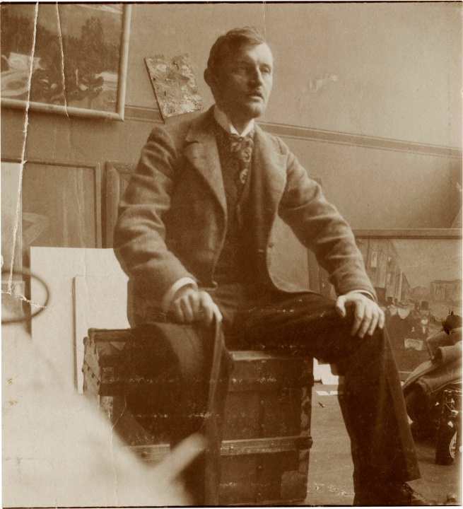 Edvard Munch (Norwegian, 1863-1944) 'Self-Portrait on a Valise in the Studio, Berlin' 1902
