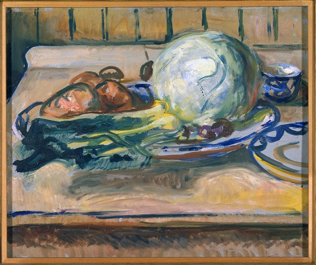 Edvard Munch (Norwegian, 1863-1944) 'Still Life with Cabbage and other Vegetables' 1926-30
