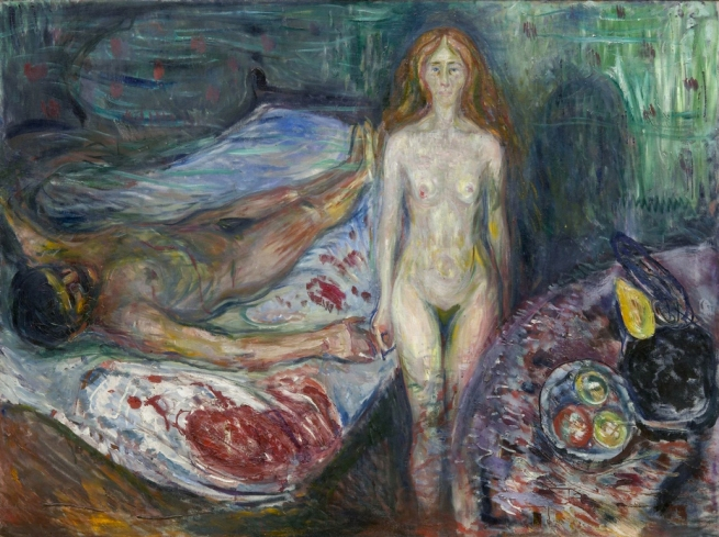 Edvard Munch (Norwegian, 1863-1944) 'The Death of Marat' 1907