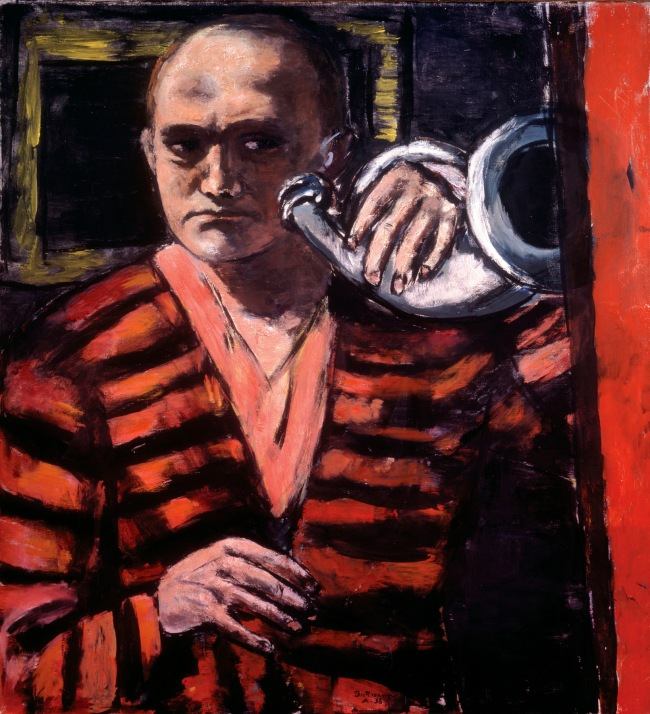 Max Beckmann (German, 1884-1950) 'Self-Portrait with Horn' 1938