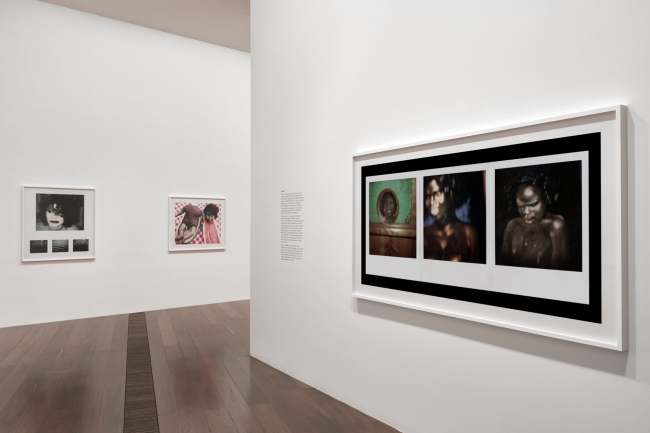 Installation view of Destiny Deacon's 'Blak lik mi' 1991