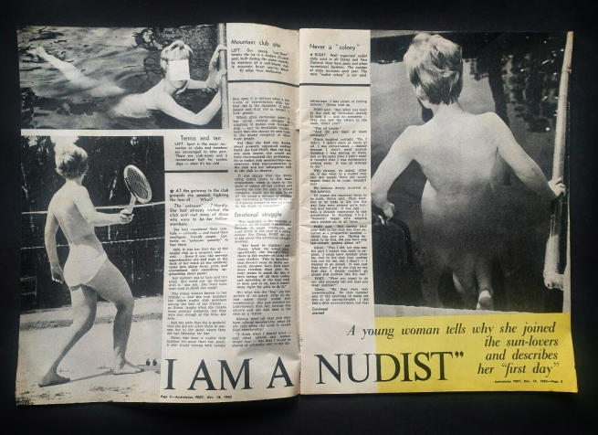 """I am a nudist"" from 'Australasian Post' November 18, 1965"