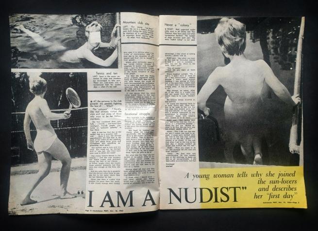 """I am a nudist"" from 'Australasian Post' November 18, 1965"