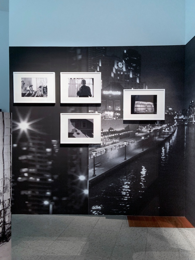 Installation view of 'DESTINY' at The Ian Potter Centre: NGV Australia, Melbourne, 2020 showing Destiny Deacon and Virginia Fraser's 'Melbourne Noir' 2013