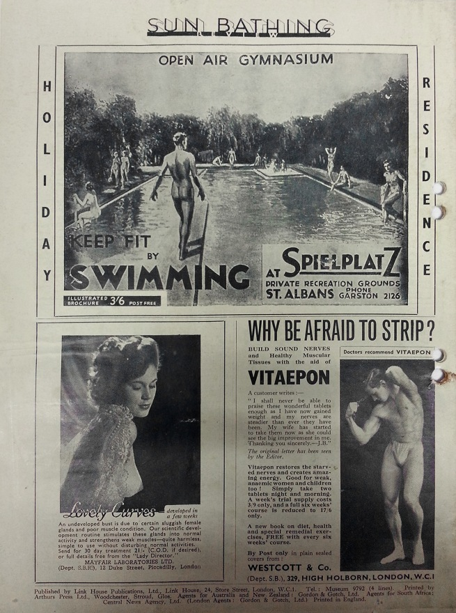 Sun Bathing Review Summer 1949