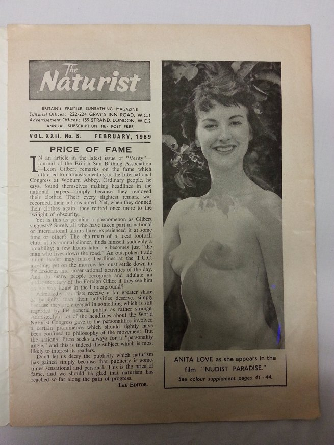 The Naturist Monthly Vol. XXII, No. 3 February 1959