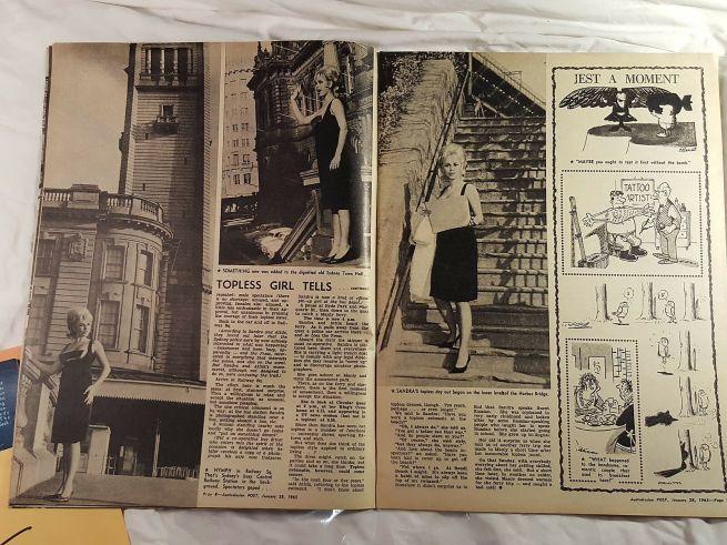 Topless Girl Australasian Post Jan 28 1965