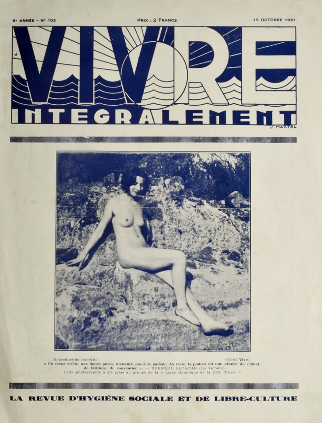 Vivre Integralement #103 15th October 1931 French Naturist Magazine