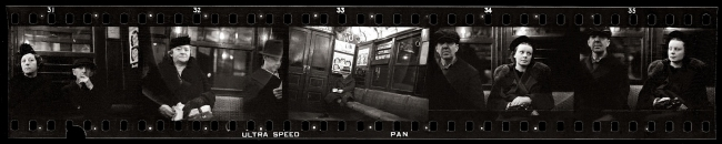 Walker Evans (American, 1903-1975) '35mm negative strip of Subway Portraits' 1938-1941