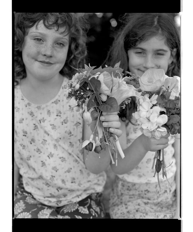 Marcus Bunyan (Australian, b. 1958) 'Children and flowers I' 1994-96