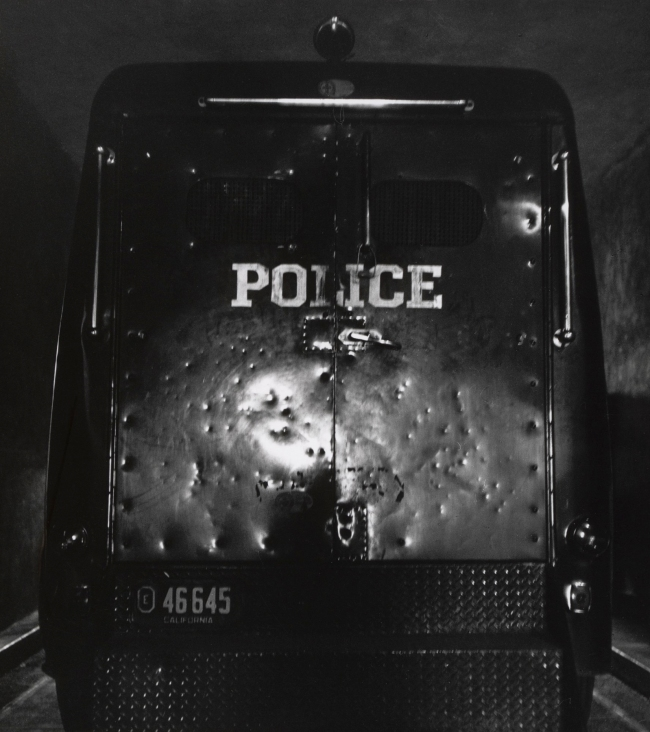 Dorothea Lange (American, 1895-1965) 'Black Maria, Oakland' 1957