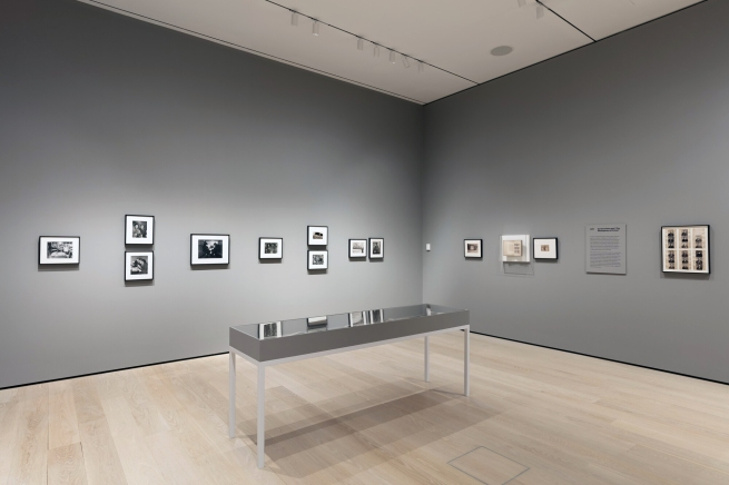 """Installation view of the Collection1940s-1970s, Room 409: 'Gordon Parks and """"The Atmosphere of Crime""""' at the Museum of Modern Art (MoMA), New York"""