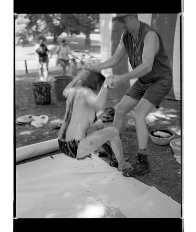 Marcus Bunyan (Australian, b. 1958) 'Body painting, Melbourne gay pride' 1994