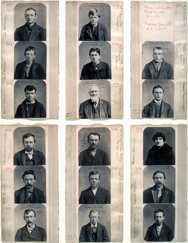 Unknown photographer. 'Untitled (Pages from an album of mugshots)' 1870s-80s