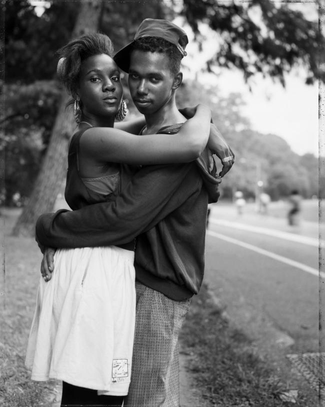 Dawoud Bey (American, b. 1953) 'A Couple in Prospect Park, Brooklyn, NY, 1990' 1990
