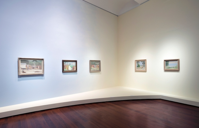 Installation view of the exhibition 'Clarice Beckett: The present moment', Art Gallery of South Australia, Adelaide, 2021