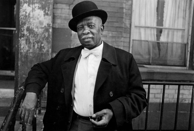 Dawoud Bey (American, b. 1953) 'A Man in a Bowler Hat, Harlem, NY, 1976' 1976