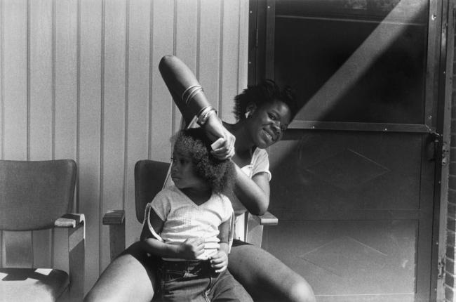 Dawoud Bey (American, b. 1953) 'Combing Hair, Syracuse, NY, 1986' 1986