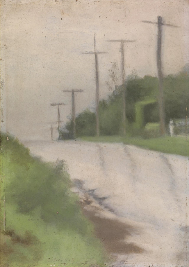 Clarice Beckett (Australia, 1887-1935) 'Beach Road after the rain (Street scene)' c. 1927