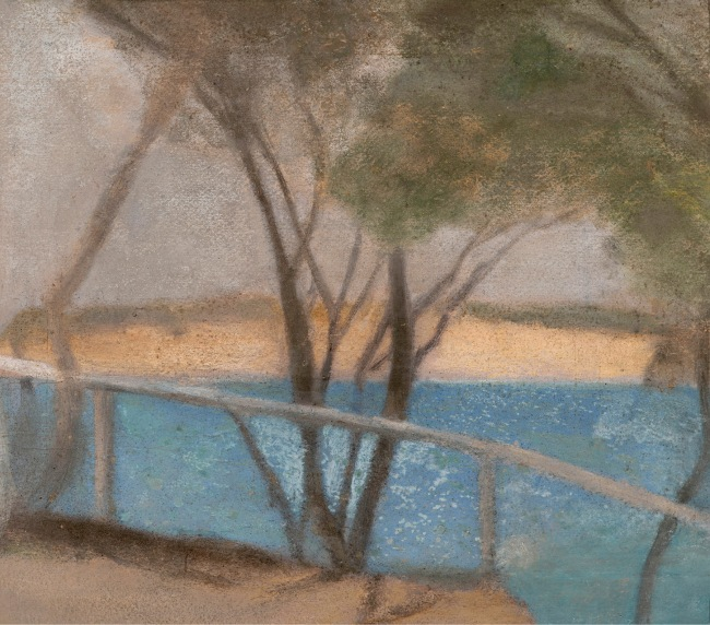 Clarice Beckett (Australia, 1887-1935) 'Cliff path' c. 1929