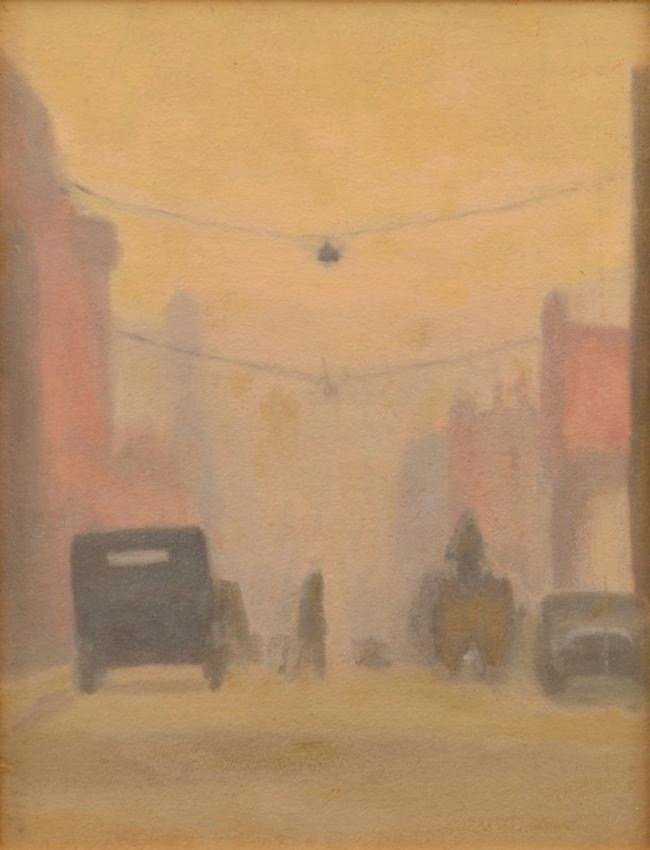 Clarice Beckett (Australia, 1887-1935) 'Collins Street' Nd
