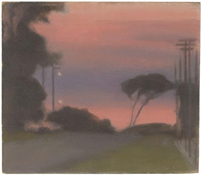 Clarice Beckett (Australia, 1887-1935) 'Evening landscape' c. 1925