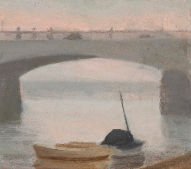Clarice Beckett (Australia, 1887-1935) 'Evening on the Yarra' Nd